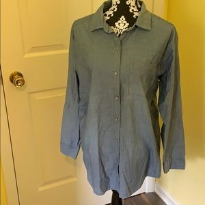 J. Jill Denim Chambray Button up Blouse